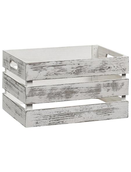 ZELLER Aufbewahrungsbox, BxHxL: 25 x 20 x 35 cm, Holz