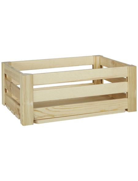 ZELLER Aufbewahrungsbox, BxHxL: 30 x 15 x 40 cm, Kiefernholz