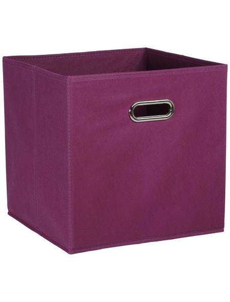 ZELLER Aufbewahrungsbox, BxHxL: 32 x 32 x 32 cm, Vlies/Metall