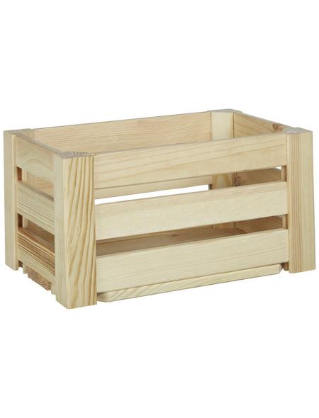 ZELLER Aufbewahrungsbox, BxLxH: 20 x 30  x 15 cm, Kiefernholz