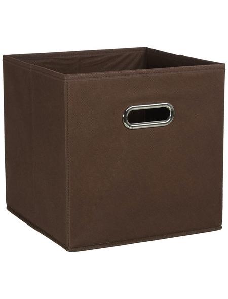 ZELLER Aufbewahrungsbox, BxLxH: 28 x 28  x 28 cm, Vlies/Metall