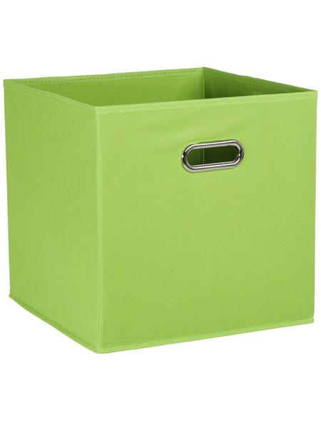 ZELLER Aufbewahrungsbox, BxLxH: 32 x 32  x 32 cm, Vlies/Metall