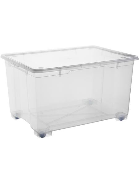 Rotho Aufbewahrungsbox »CLEAR «, BxHxL: 56 x 45 x 78 cm, Kunststoff