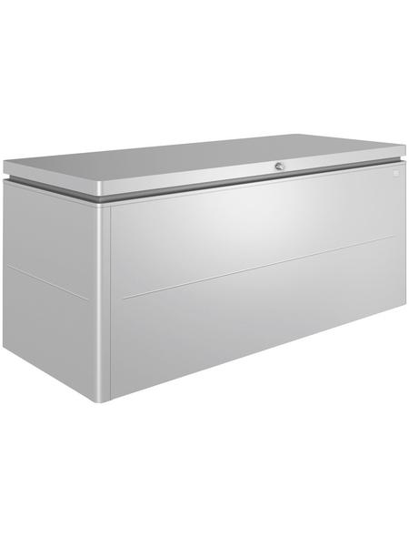 BIOHORT Aufbewahrungsbox »LoungeBox«, BxHxT: 200 x 88,5 x 84 cm, silber-metallic