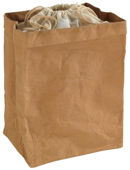WENKO Aufbewahrungstüte Papier groß Papiertüte zur Aufbewahrung mit Baumwoll-Deckel