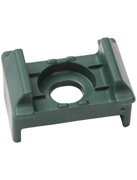 FLORAWORLD Auflagebock, BxHxT: 5 x 1,8 x 3,5 cm, grün, für Pfosten Classic, Comfort und Premium