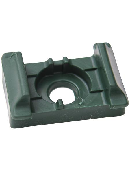 FLORAWORLD Auflagebock, BxHxT: 5 x 2 x 3,5 cm, grün, für Eckpfosten Classic, Comfort und Premium