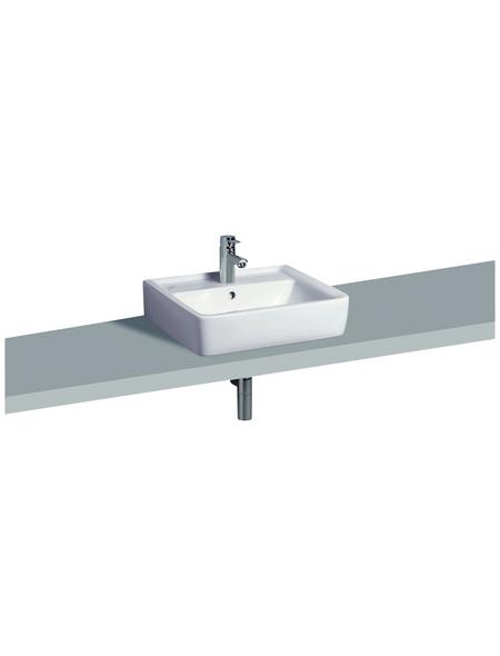 GEBERIT Aufsatz-Waschbecken »Renova Plan«, Breite: 55 cm, eckig