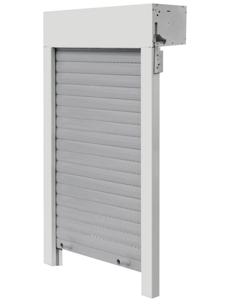 SCHELLENBERG Aufsatzrollladen »SB«, geeignet für Fenster BxH: 120 x123,5 cm, weiß/grau