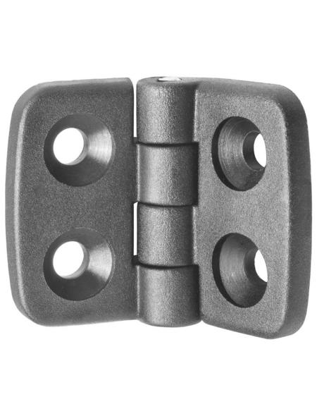 CONNEX Aushebescharnier, LxB: 3 x 3,9 cm, Schwarz, Kunststoff