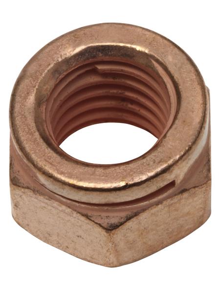 SWG Auspuff-Schlitzmutter, M8, Kupfer, Stahl