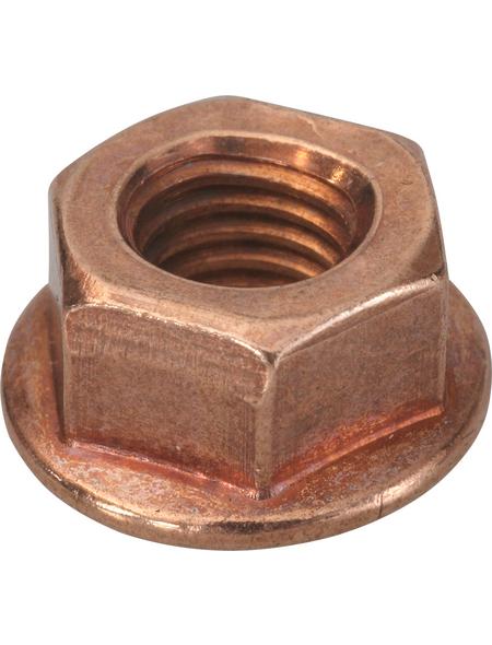 SWG Auspuffsicherungsmutter mit Bund, M8, Kupfer, Stahl