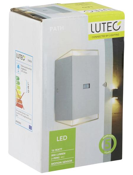 LUTEC Außenleuchte »PATH«, 16 W, inkl. Bewegungsmelder, IP44, warmweiß