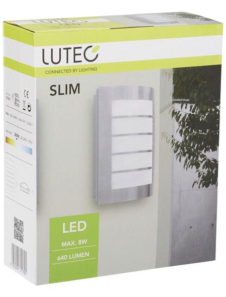 LUTEC Außenleuchte »SLIM«, 8 W, IP44, warmweiß