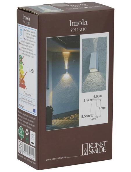 KONSTSMIDE Außenwandleuchte »Imola«, 6 W, aluminium/acrylglas, IP54
