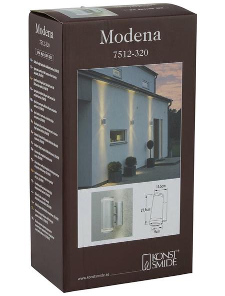 KONSTSMIDE Außenwandleuchte »Modena«, 35 W, stahl/acrylglas, IP44