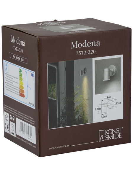 KONSTSMIDE Außenwandleuchte »Modena«, 35 W, stahl/glas, IP44