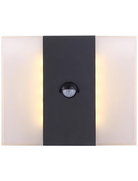 GLOBO LIGHTING Außenwandleuchte »MOONLIGHT«, 11,6 W, inkl. Bewegungsmelder, IP44, warmweiß