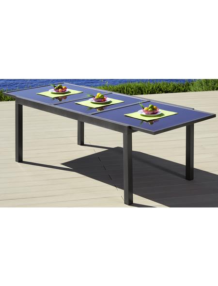 Ausziehtisch, mit Sicherheitsglas-Tischplatte, BxTxH: 100 x 240 x 75 cm