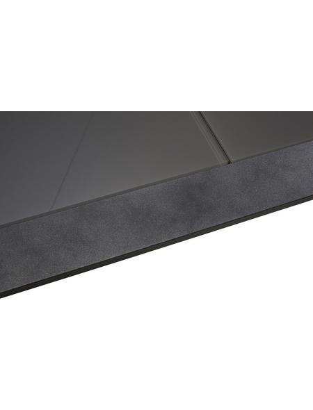Ausziehtisch, mit Sicherheitsglas-Tischplatte, BxTxH: 104 x 220 x 75,5 cm