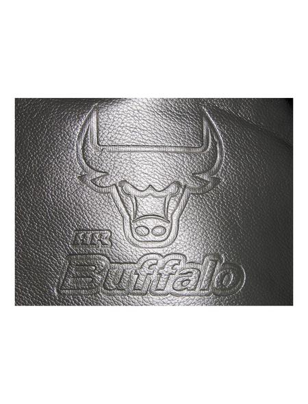 EUFAB Autositzbezug-Set, Buffalo, Schwarz   Grau, Polyester   Kunstleder, 17-tlg., für hinten und vorne