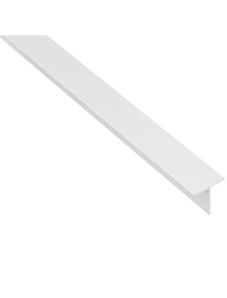 GAH ALBERTS BA-Profil T-Form Alu weiß 2600 x 25 x 25 x 2 mm
