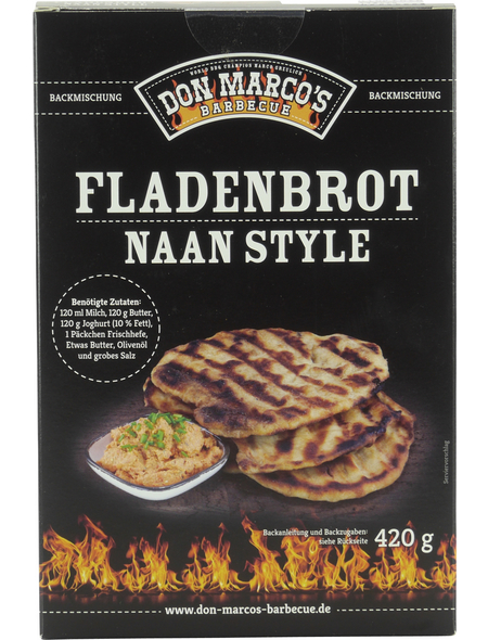Don Marco´s Barbecue Backmischung, Naan Brot, 420 g