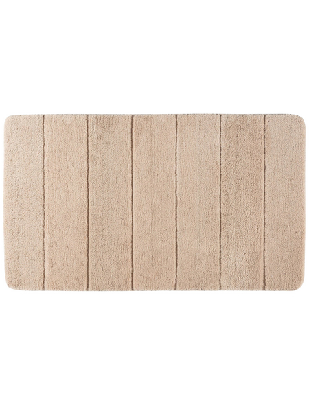 WENKO Badematte »Steps«, sandfarben, 70 x 120 cm