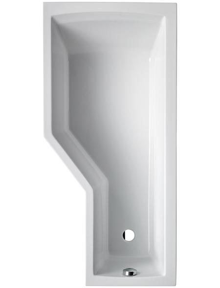 OTTOFOND Badewanne »Cello«, BxHxL: 80 x 45 x 170 cm, asymetrisch