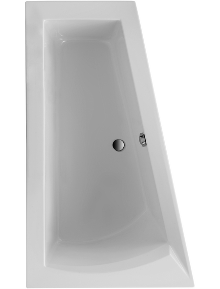 OTTOFOND Badewanne »Galia I«, BxHxL: 100 x 51 x 160 cm, trapezförmig