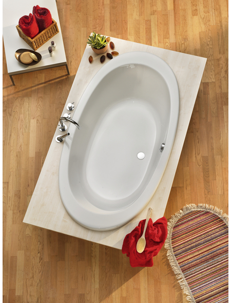 OTTOFOND Badewanne »Gomera«, BxHxL: 96 x 39 x 180 cm, oval