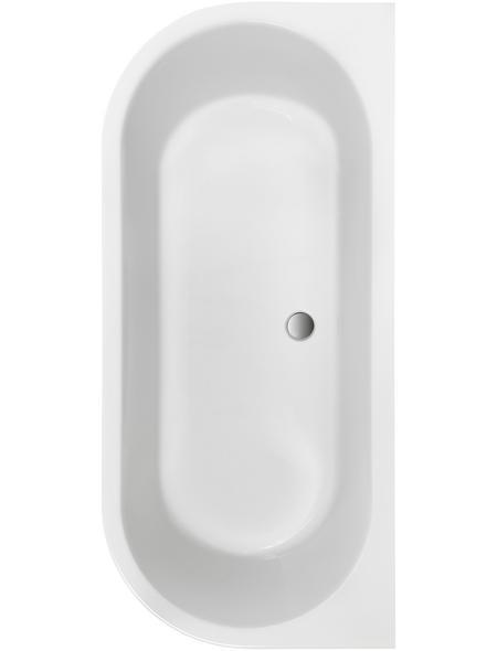 OTTOFOND Badewanne »Modena«, BxHxL: 75 x 44 x 165 cm, oval