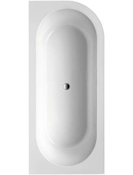 OTTOFOND Badewanne »Modena«, BxHxL: 78 x 44 x 178 cm, abgerundet