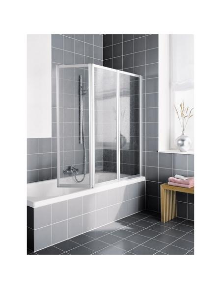 KERMI Badewannenaufsatz »Vario 2000«, B x H: 140 x 140 cm, Kunstglas