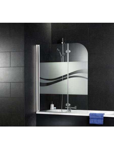 SCHULTE Badewannenfaltwand, B x H: 110  x 140  cm, Glas (ESG)