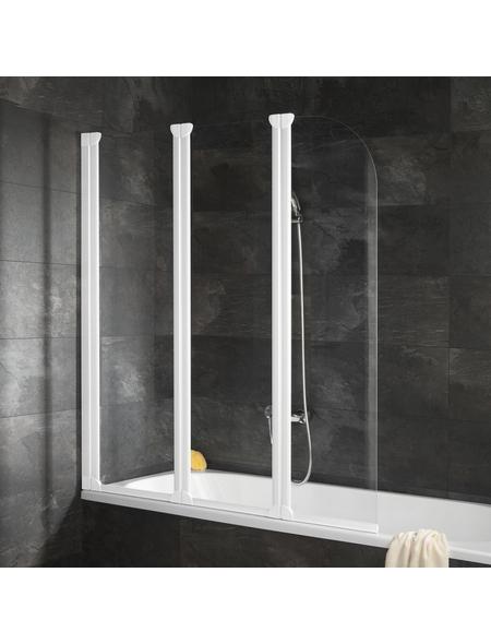 SCHULTE Badewannenfaltwand »ExpressPlus«, B x H: 125  x 140  cm, Echtglas