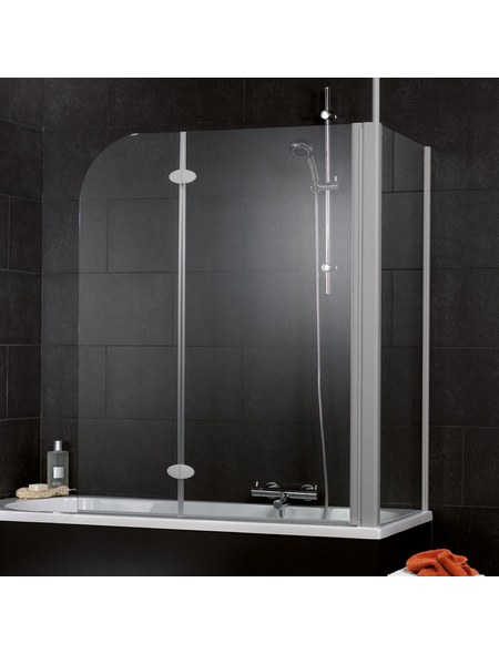 SCHULTE Badewannenfaltwand »Komfort«, B x H: 116 x 140 cm, Echtglas