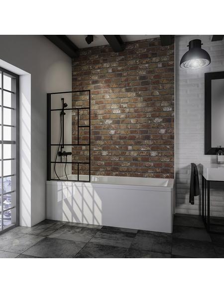SCHULTE Badewannentrennwand »Atelier 1«, BxH: 80 x 140 cm, Einscheiben-Sicherheitsglas (ESG)