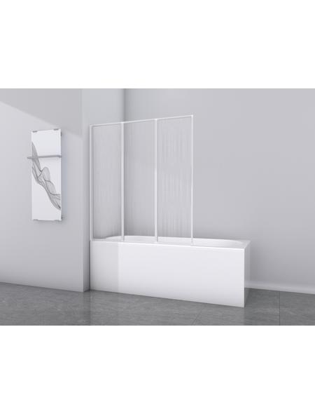 Badewannentrennwand, B x H: 132  x 141,5  cm, Kunstglas