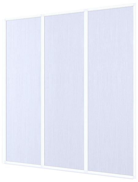 Badewannentrennwand, BxH: 132 x 141,5 cm, Kunstglas