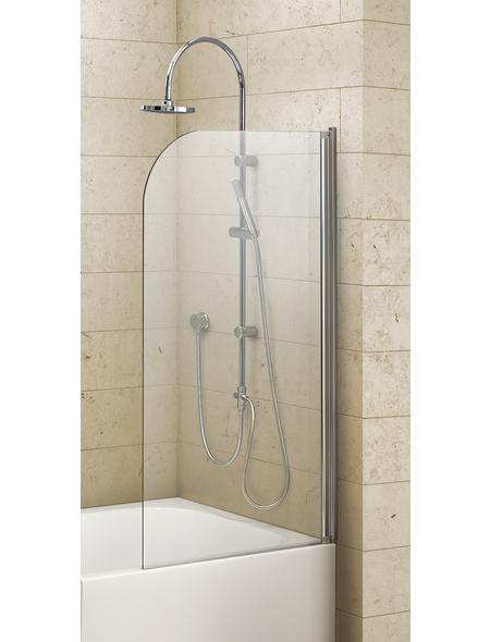 OTTOFOND Badewannentrennwand »Cello«, BxH: 80 x 140 cm, Einscheiben-Sicherheitsglas (ESG)