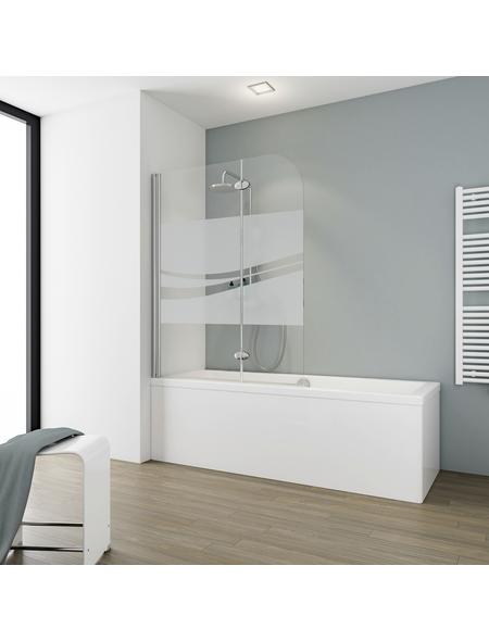 SCHULTE Badewannentrennwand »Komfort«, BxH: 112 x 140 cm, Echtglas