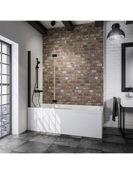 SCHULTE Badewannentrennwand »Komfort«, BxH: 112 x 140 cm, Einscheiben-Sicherheitsglas (ESG)