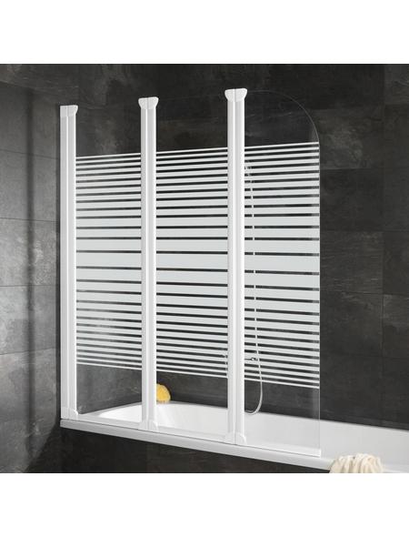 SCHULTE Badewannentrennwand »Komfort«, BxH: 125 x 140 cm, Einscheiben-Sicherheitsglas (ESG)