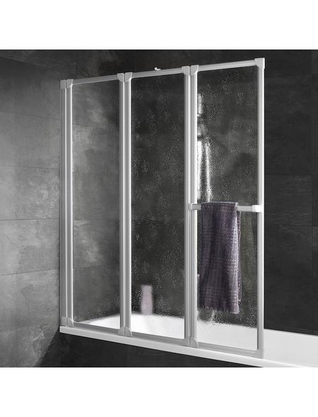 SCHULTE Badewannentrennwand »Komfort«, BxH: 126,8 x 140 cm, Kunstglas