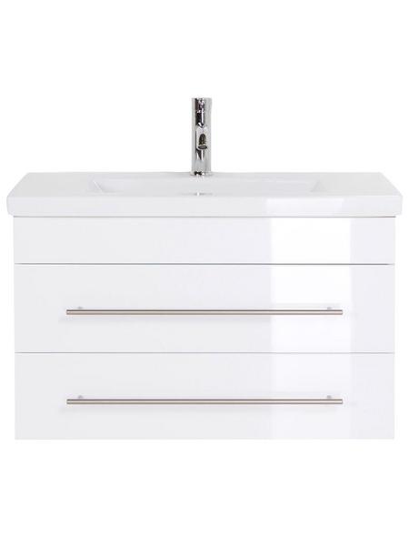 POSSEIK Badmöbel-Set »Carpo«, B x T x H: 80  x 36  x 52  cm, weiß, 80-teilig