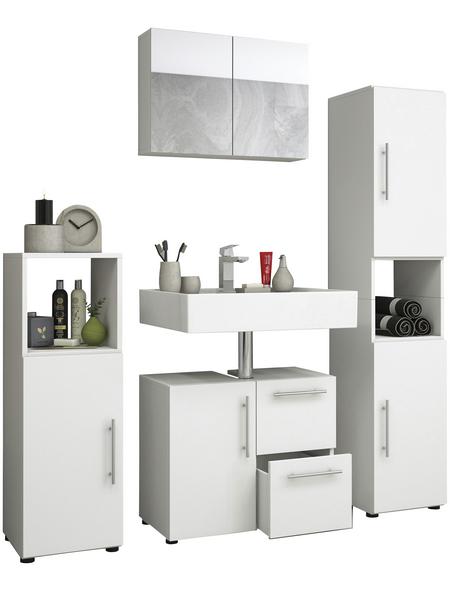 VCM Badmöbel-Set »Flandu«, 4 teilig, modern, mit Spiegelschrank
