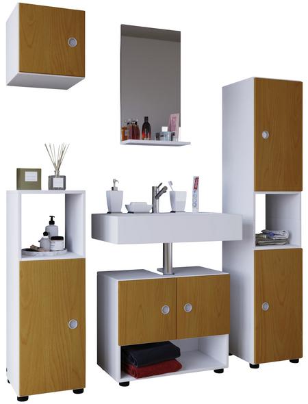 VCM Badmöbel-Set »Intola I«, B x T x H: 130  x 30  x 180  cm, weiß, 5-teilig