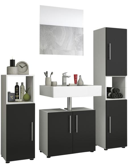 VCM Badmöbel-Set »Tinosa«, B x T x H: 123  x 2  x 123  cm, schwarz