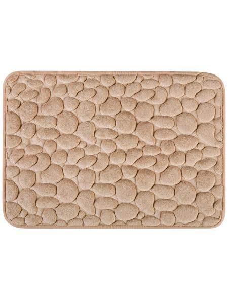 WENKO Badteppich, BxH: 40 x 1 cm, Steine, beige